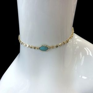 Jewelry - New Choker Single Stone Turquoise Necklace